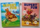 2 Rupert the Bear children's books Rupert Fun Books 2 and 3 IMPERFECT J